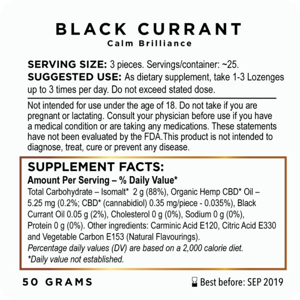BLACK CURRANT CBD lozenge