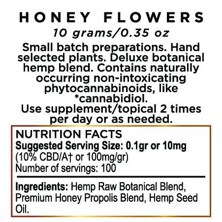 Edible Honey Flowers Hemp CBD Paste 1000