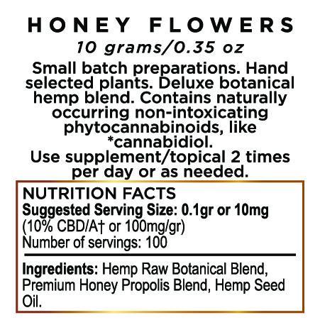 Comestibles miel fleurs chanvre CBD p?te 1000