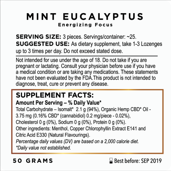 Menthe eucalyptus CBD losange